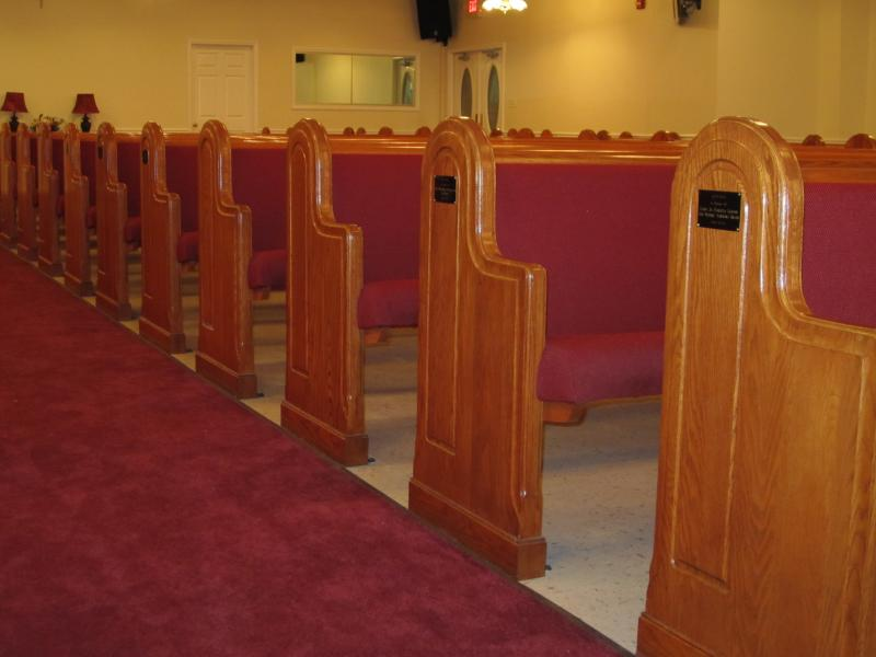 Refinished Pews
